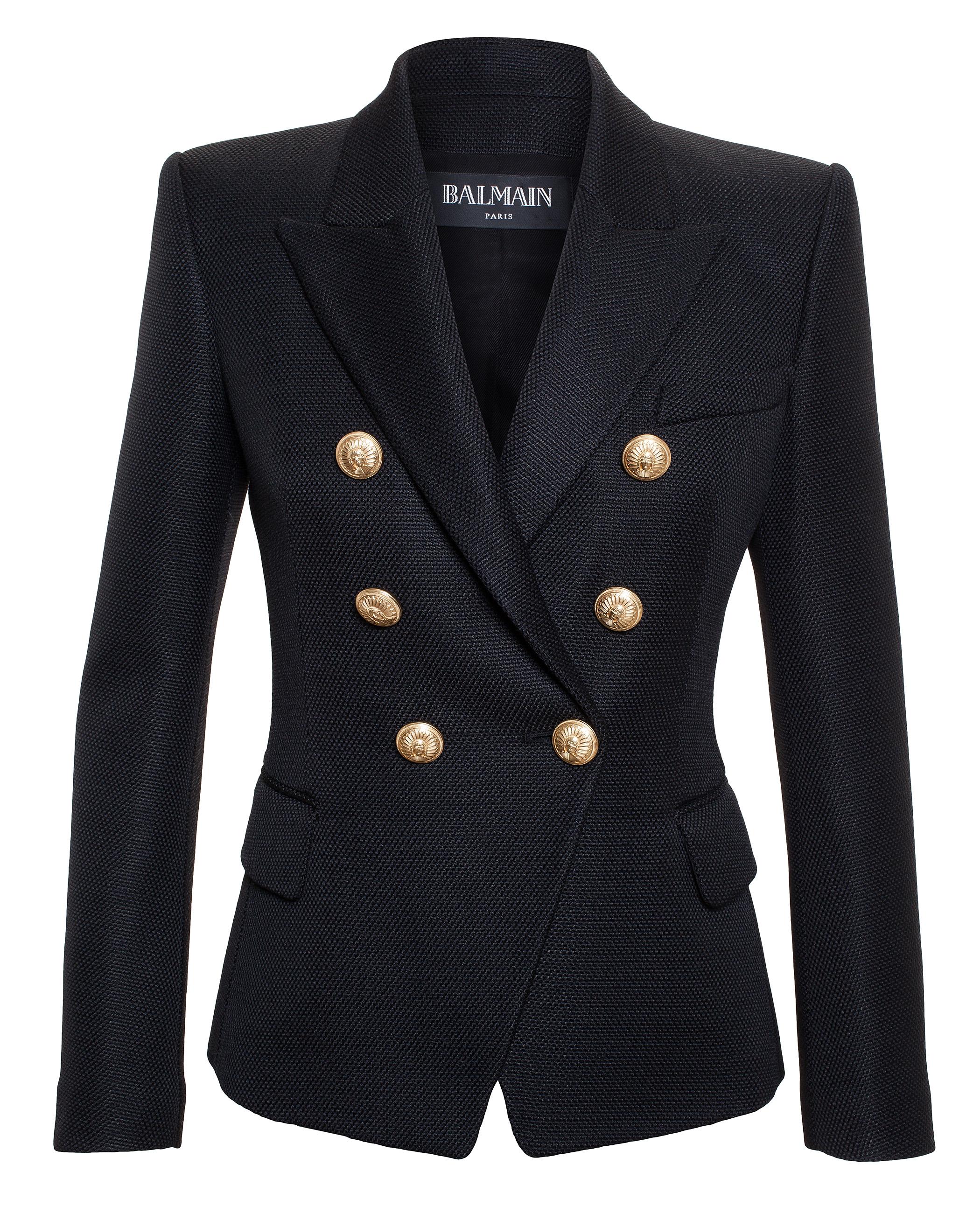 Balmain Virgin Wool Jacket In Black Lyst