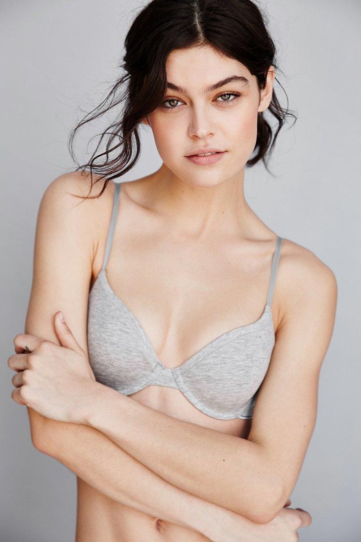 d0dce4d3534 Lyst - Calvin Klein Modern Cotton T-shirt Underwire Bra in Gray