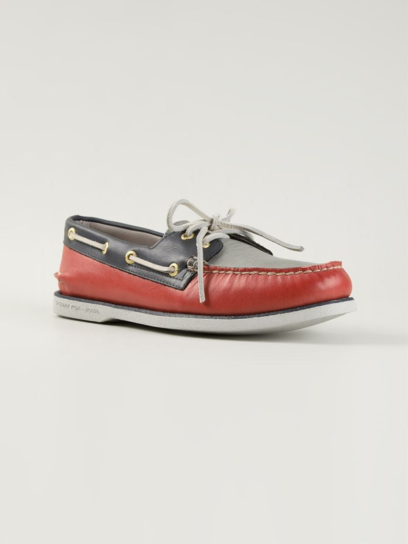 Sperry Gold Cup Shoes In Red For Men