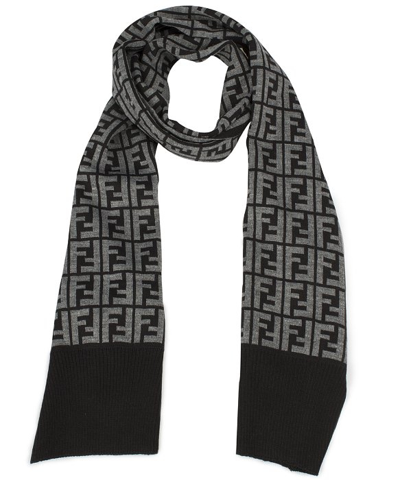 0c13d02c5ad44 ... coupon code lyst fendi hat and scarf set in grey in gray for men 7f03d  2fc0c