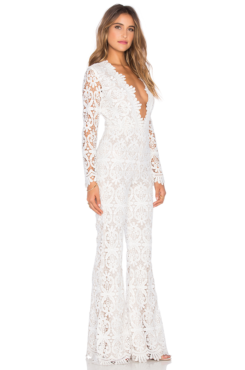 d3a0f63ac69 Lyst - Stone Cold Fox Saint Jumpsuit in White