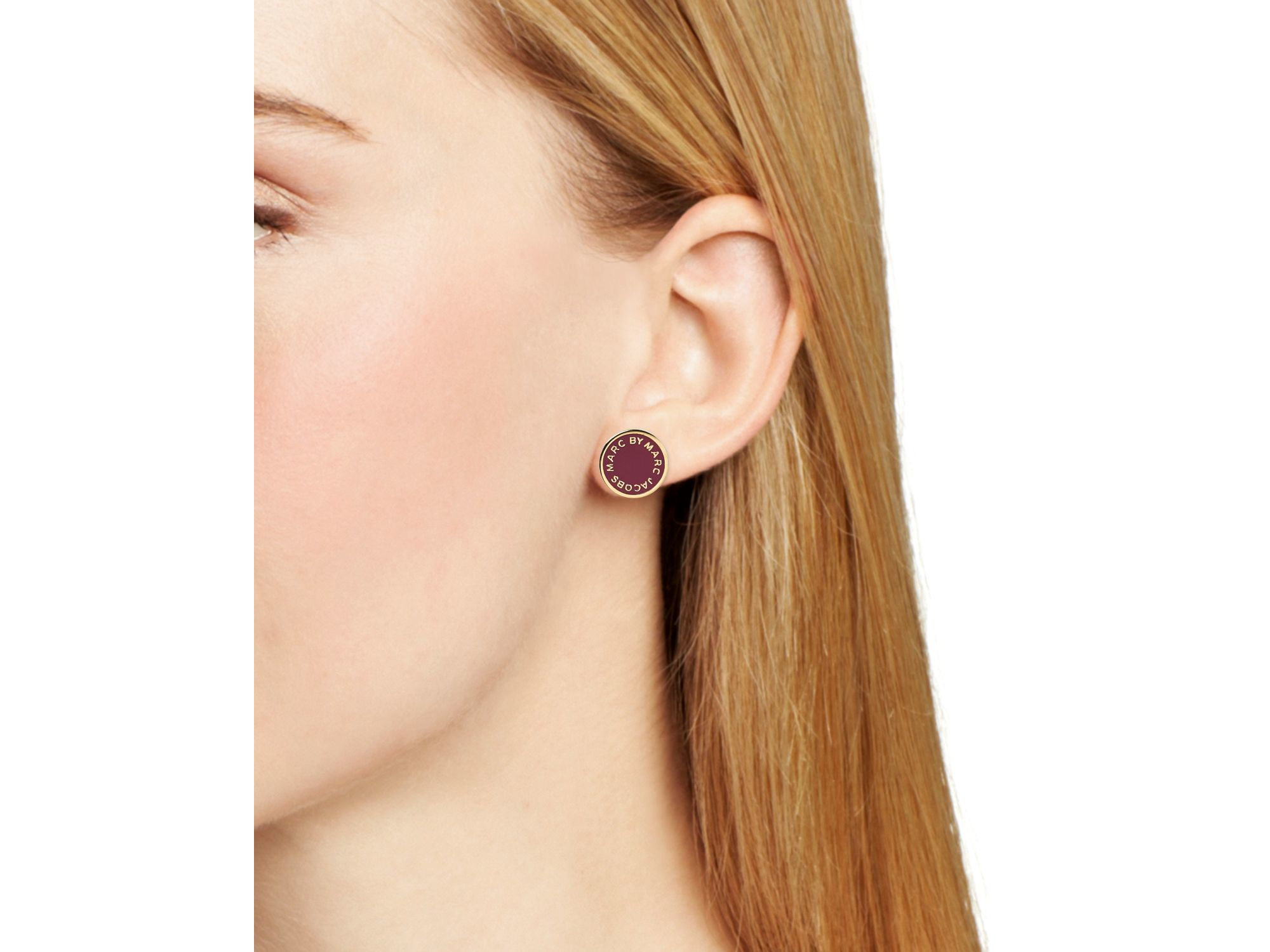 Gallery Previously Sold At Bloomingdale S Women Logo Earrings