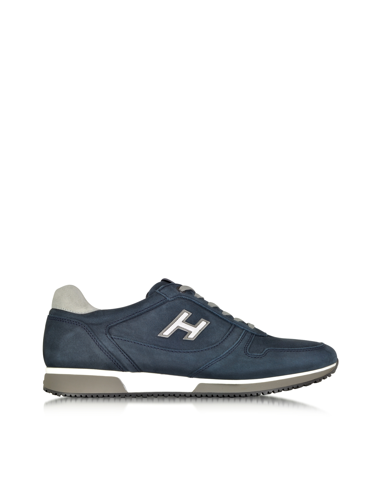 hogan h198 slash h flock sneaker in blue for men lyst. Black Bedroom Furniture Sets. Home Design Ideas