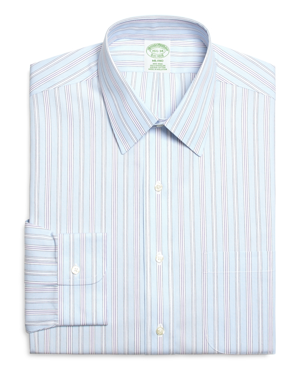 Brooks brothers non iron milano fit hairline alternating for Brooks brothers dress shirt fit