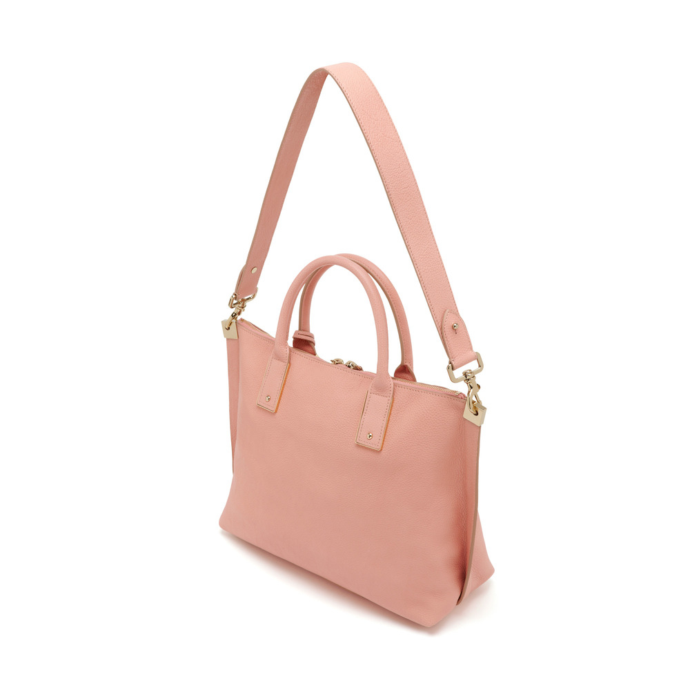 557f671d96 ... uk lyst mulberry small alice zipped tote in pink 59980 86b03