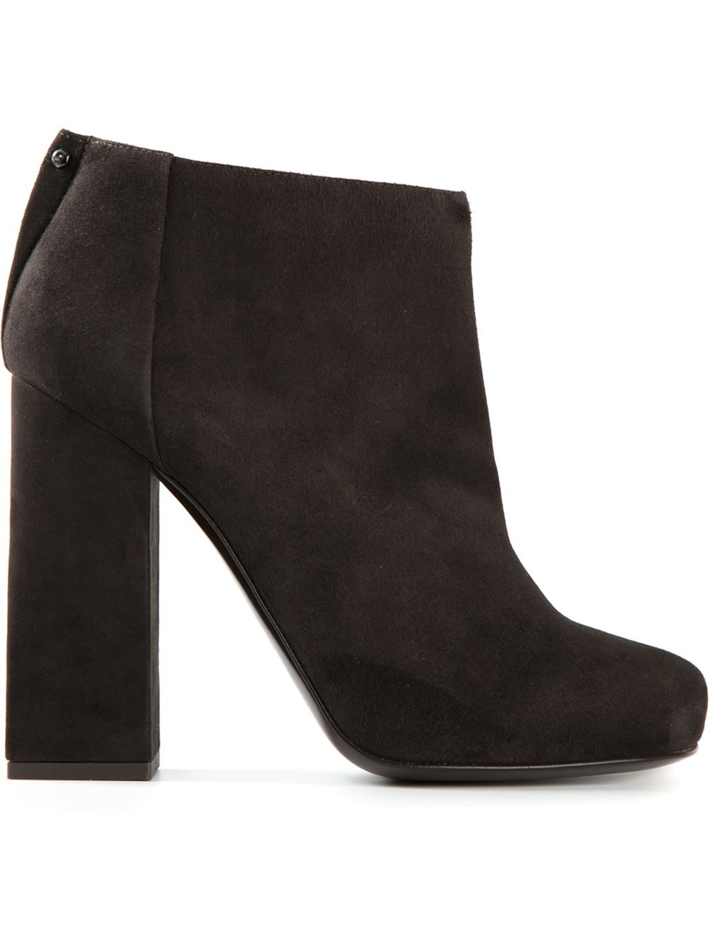 lanvin ankle boots in brown lyst