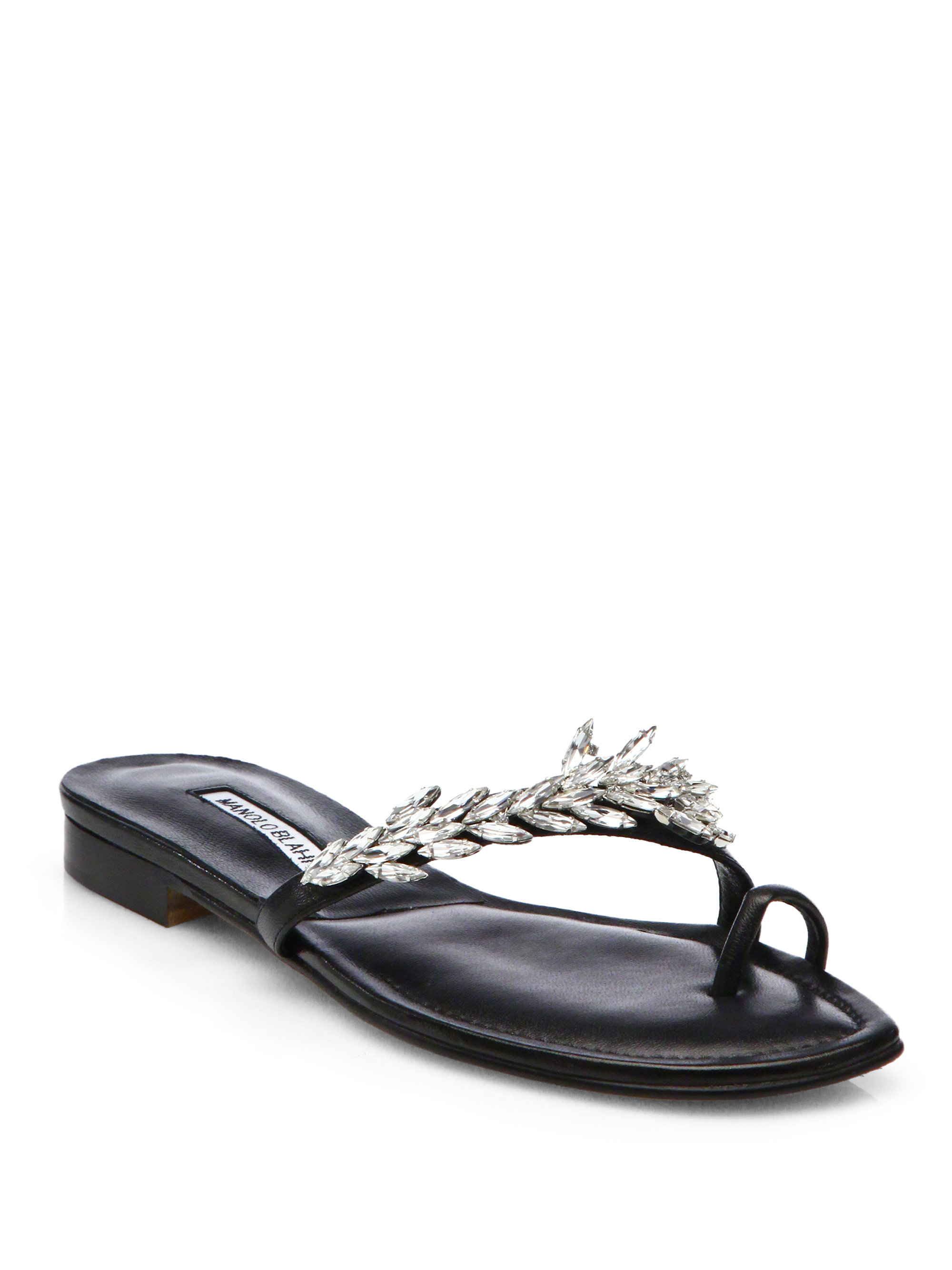 manolo blahnik sandals flats