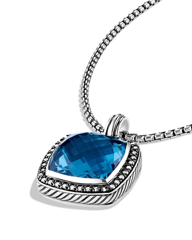 Lyst david yurman albion pendant with hampton blue topaz gallery aloadofball Gallery