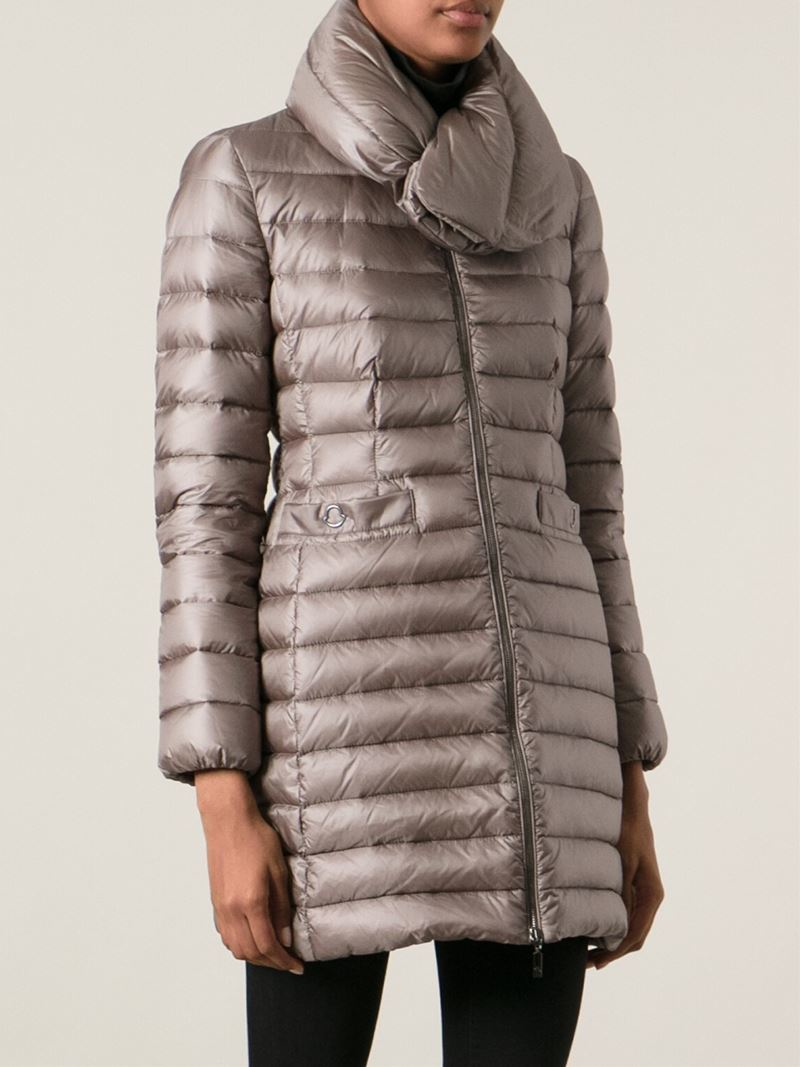 Moncler 'Vernois' Padded Coat in Brown | Lyst