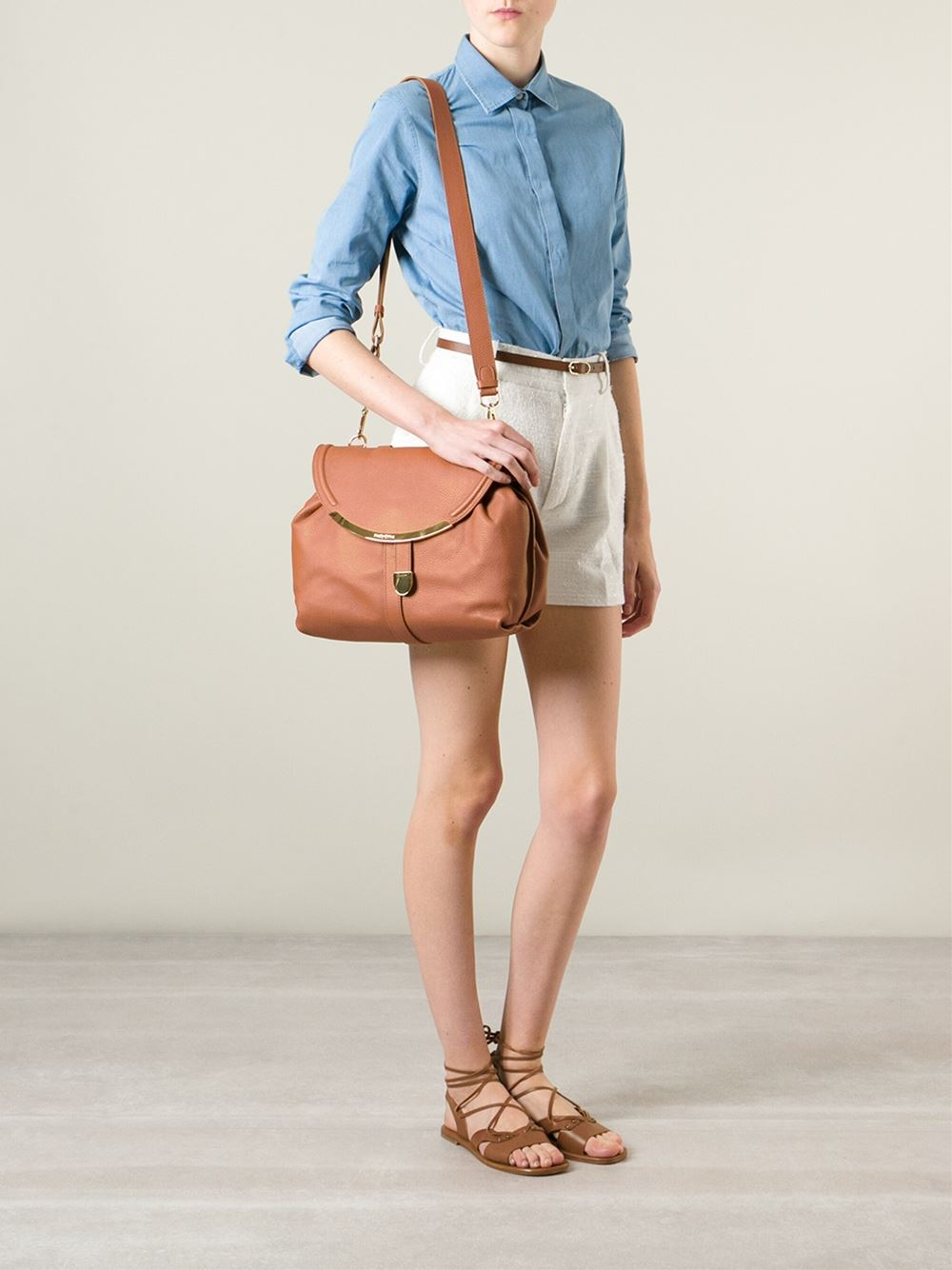 Lyst - See By Chloé  Lizzie  Crossbody Bag in Brown 99cacb7346a