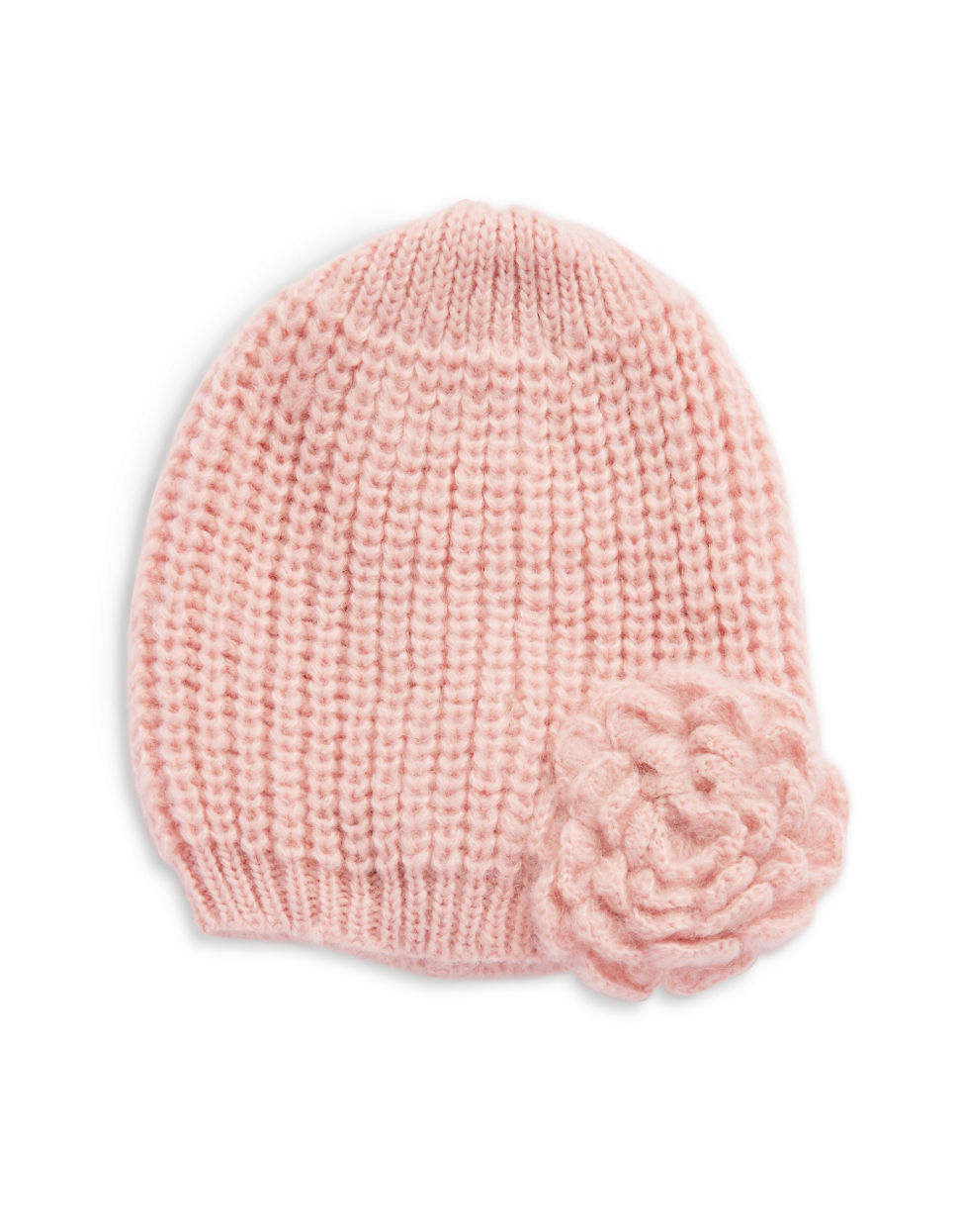 Knitting Pattern For Beanie With Flower : Wooden ships Knit Flower Beanie in Pink Lyst