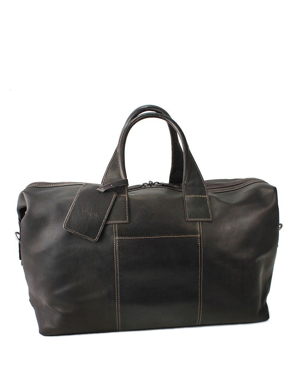 Simple Kenneth Cole Reaction Leather Duffle Bag In Black  Lyst