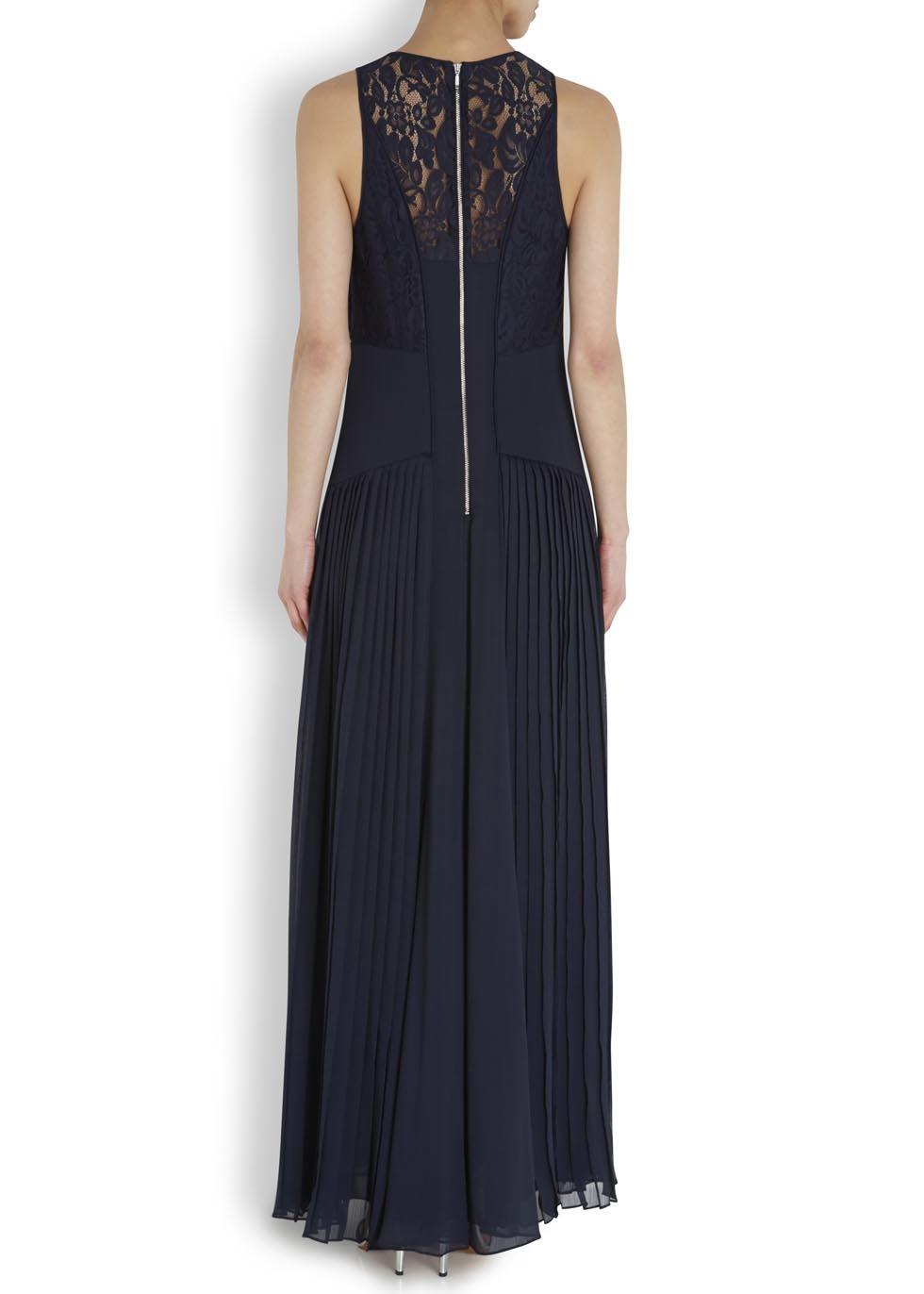 Whistles navy maxi dress