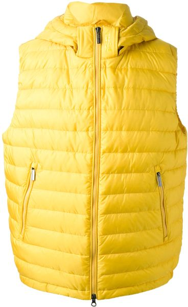Add Ped Gilet In Yellow For Men Yellow Amp Orange Lyst
