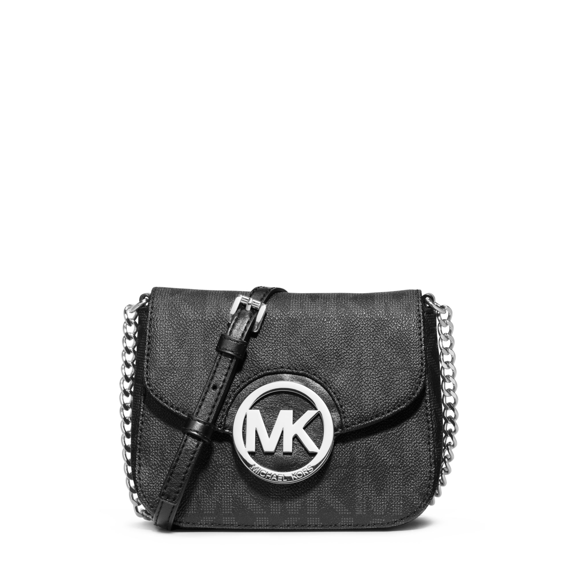 michael kors fulton small crossbody in black lyst. Black Bedroom Furniture Sets. Home Design Ideas