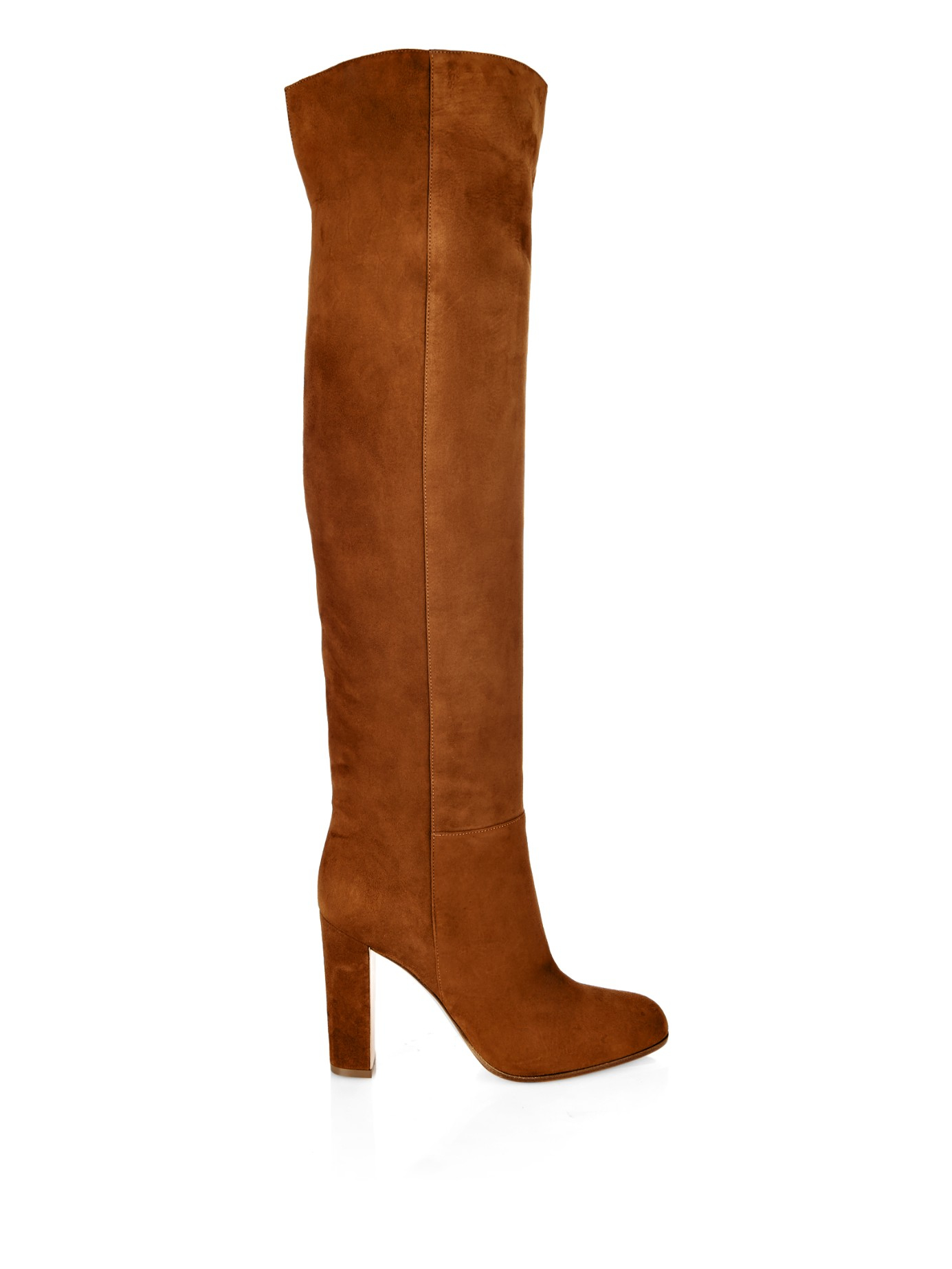 gianvito rossi suede knee high boots in brown lyst. Black Bedroom Furniture Sets. Home Design Ideas