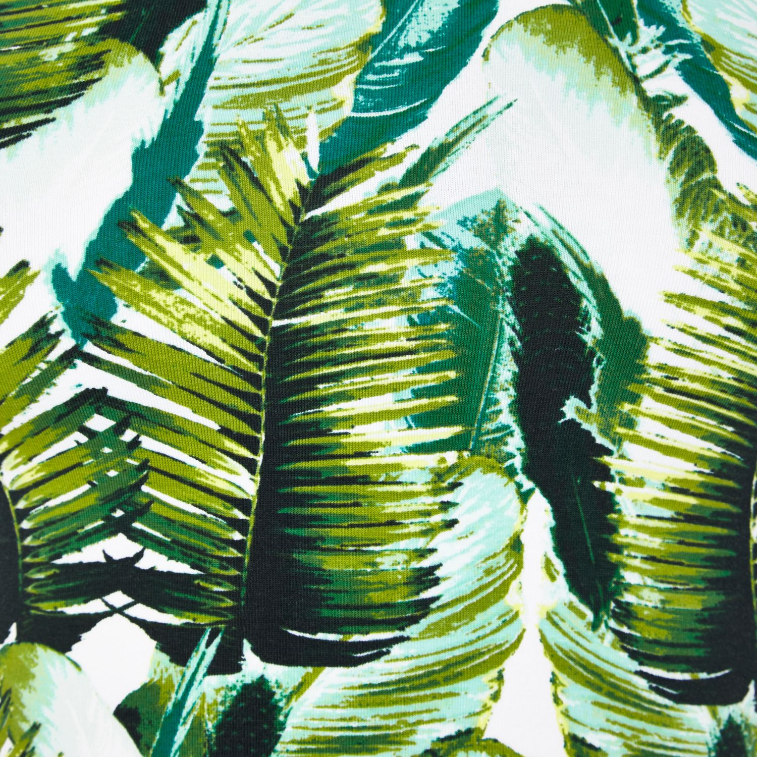 River Island Green Tropical Palm Print Crop Top In White Lyst
