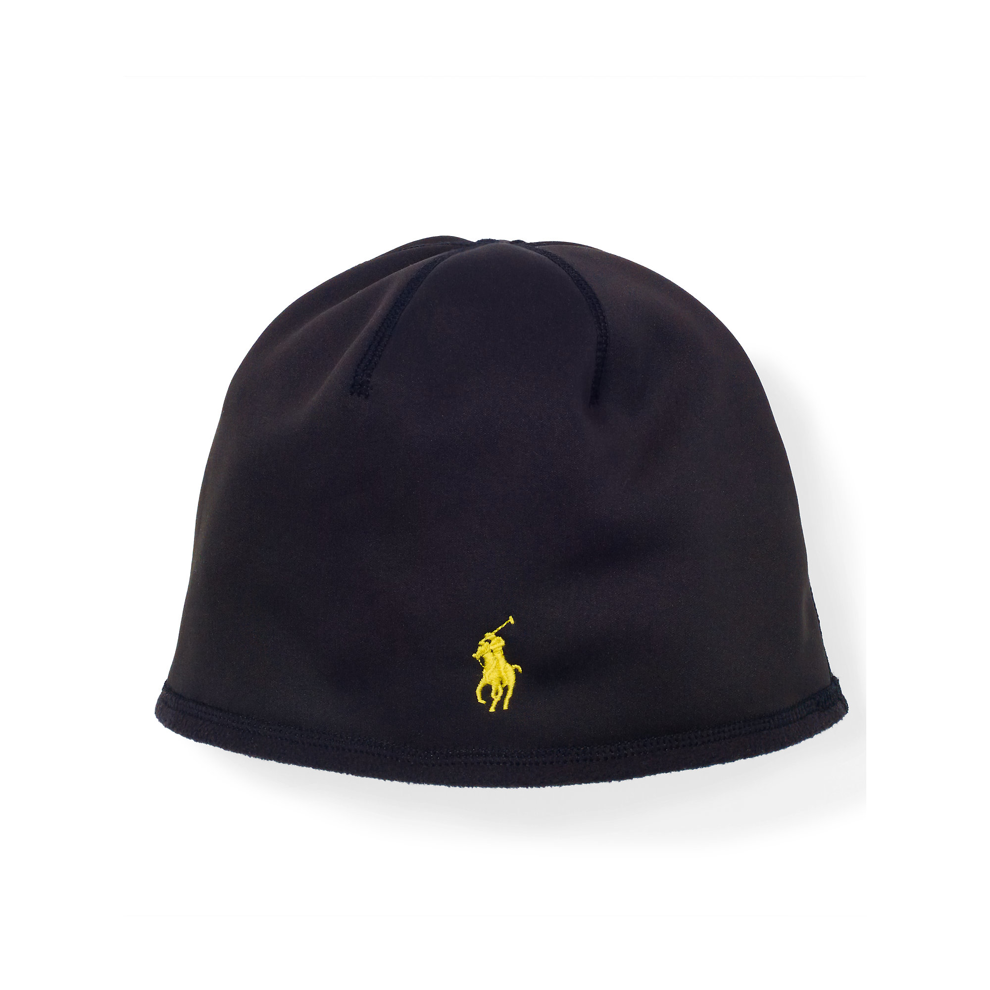 polo ralph lauren fleece skull cap in black for men lyst. Black Bedroom Furniture Sets. Home Design Ideas