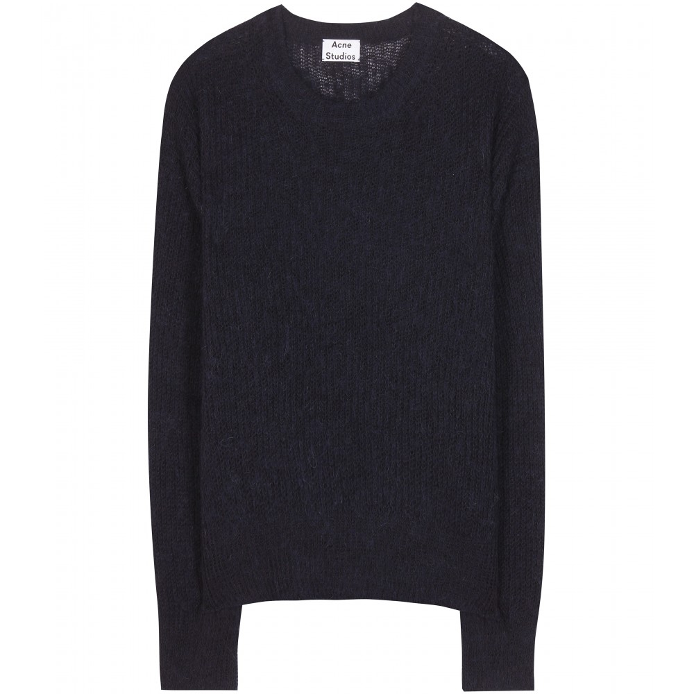 lyst acne studios bernike sweater in black. Black Bedroom Furniture Sets. Home Design Ideas