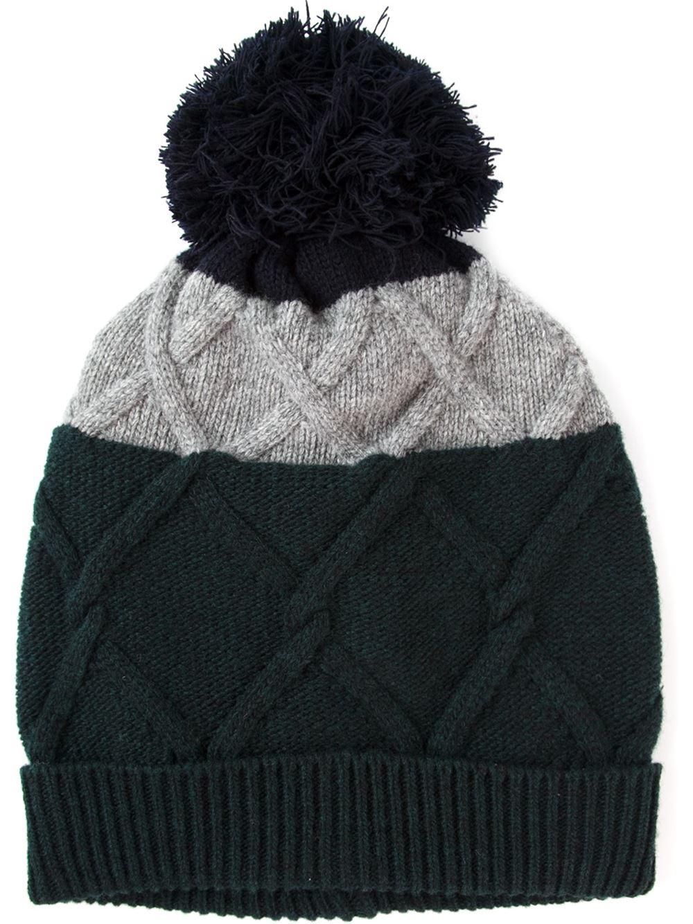 Lyst - Moncler Slouch Beanie Hat in Black for Men 5ef1fb9e419