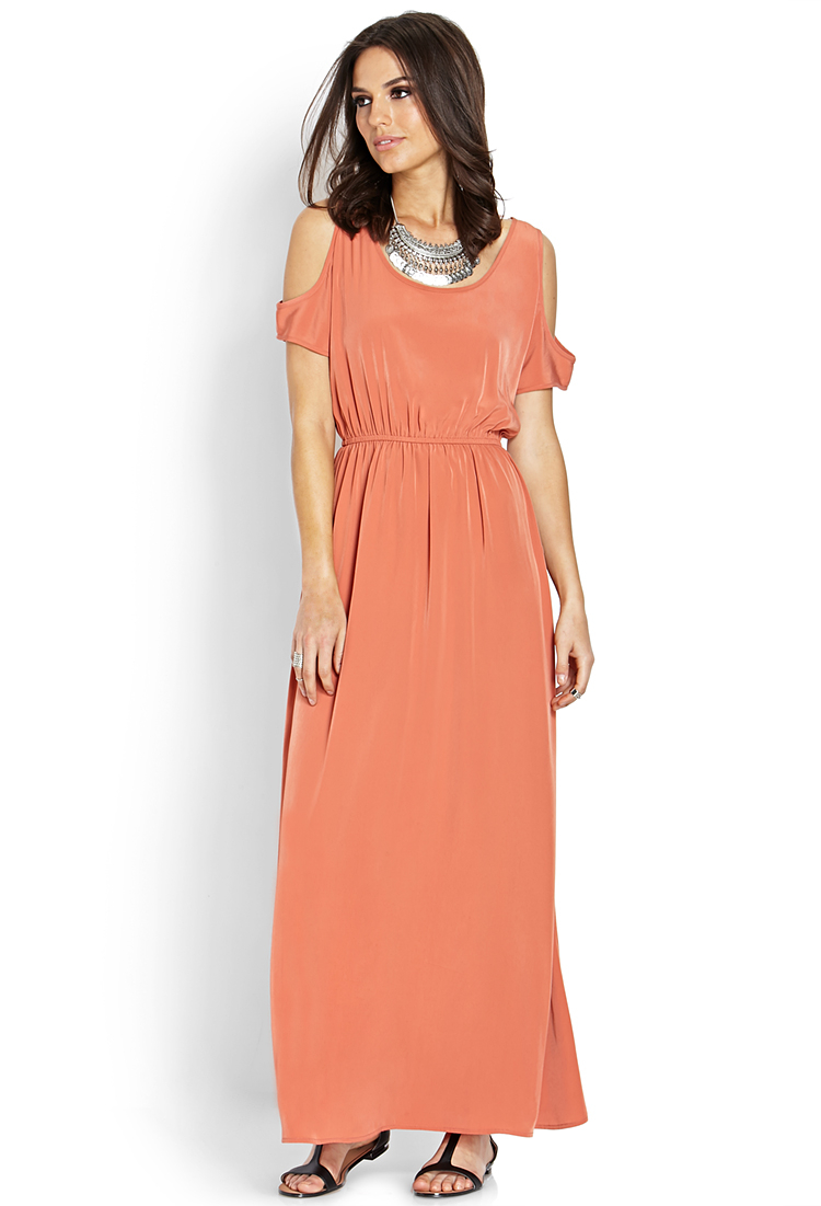 Forever 21 Contemporary Cutout Shoulder Maxi Dress You've Been ...