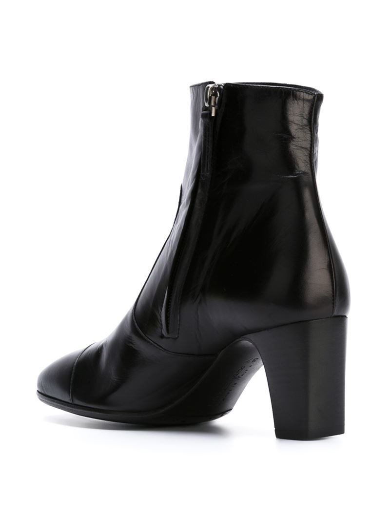 laboratorigarbo chunky heel ankle boots in black lyst