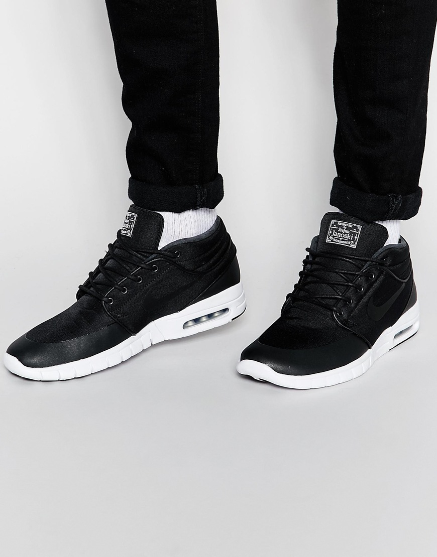 1369d9a4b3 Nike Nike Stefan Janoski Max Mid Trainers 807507-001 in Black for ...