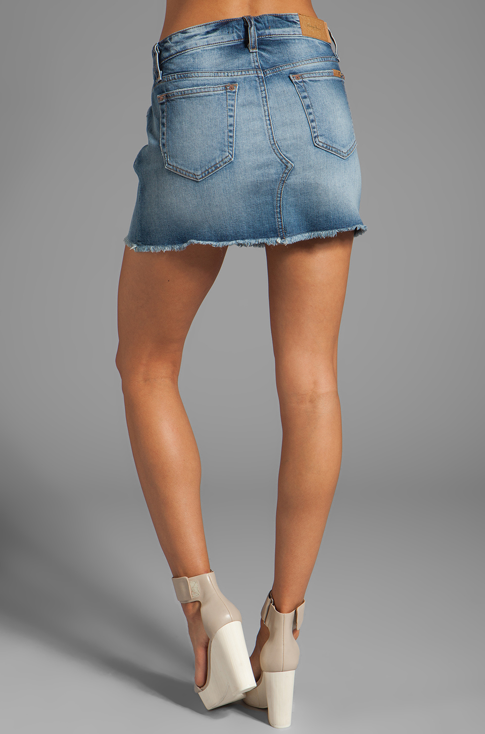 Joe's jeans Mila Easy Cut Off Mini Skirt in Light Blue in Blue | Lyst