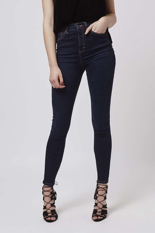 93971fdf2d TOPSHOP Tall Moto Dark Ink Jamie Jeans in Blue - Lyst