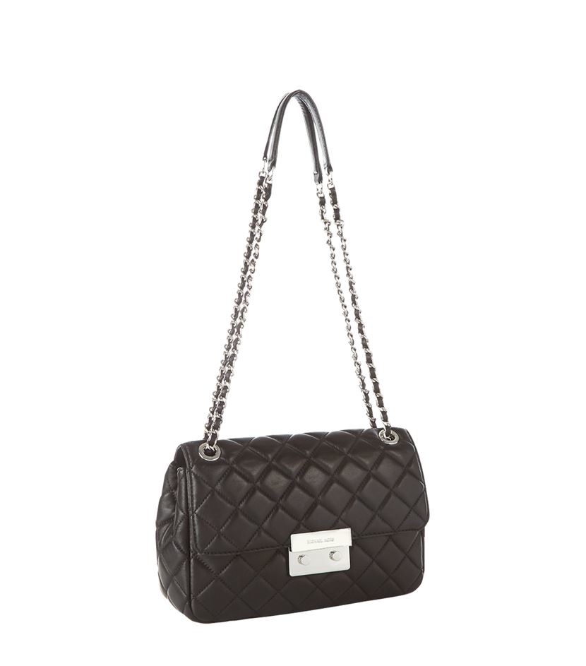 63380f95e7a3 MICHAEL Michael Kors Large Sloan Chain Shoulder Bag in Black - Lyst