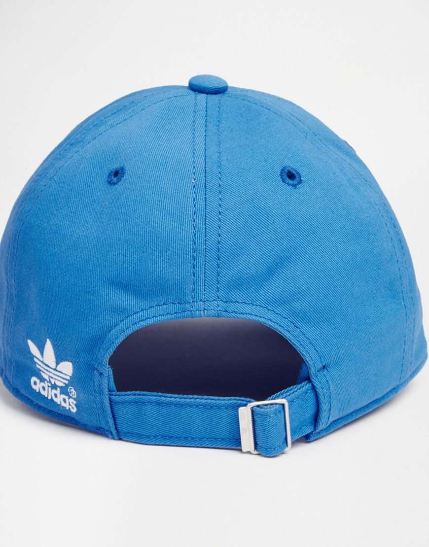 Lyst - adidas Originals Classic Adjustable Cap in Blue for Men 76929534aec