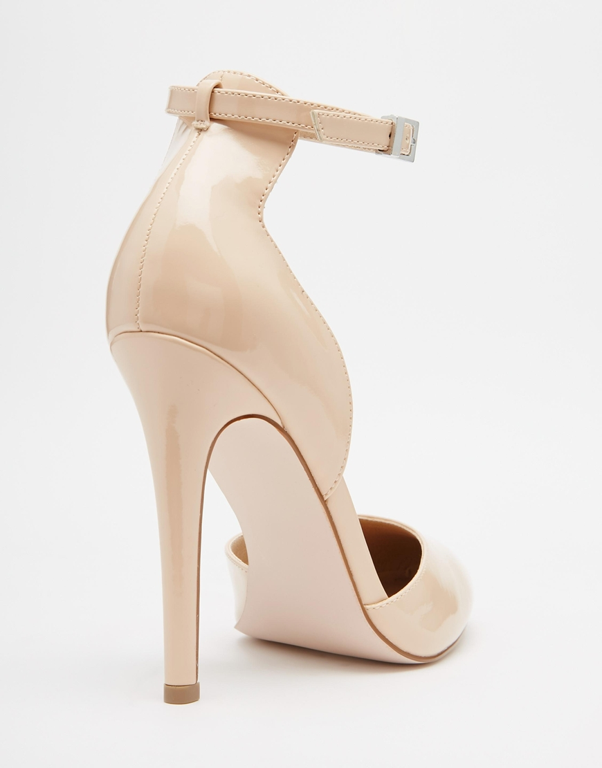 4840cd9a437 Lyst - ASOS Playwright High Heels - Nude in Natural