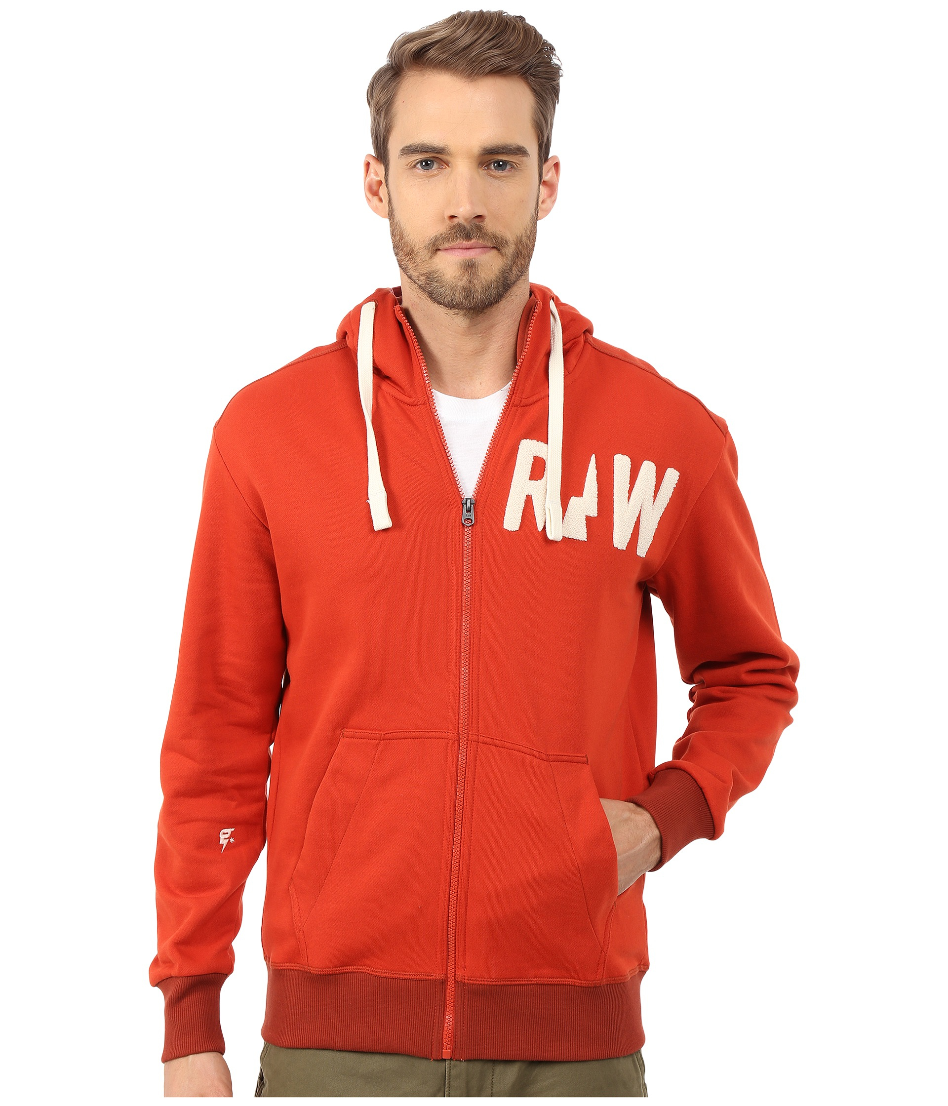 lyst g star raw grount hooded sweater vest in red for men. Black Bedroom Furniture Sets. Home Design Ideas