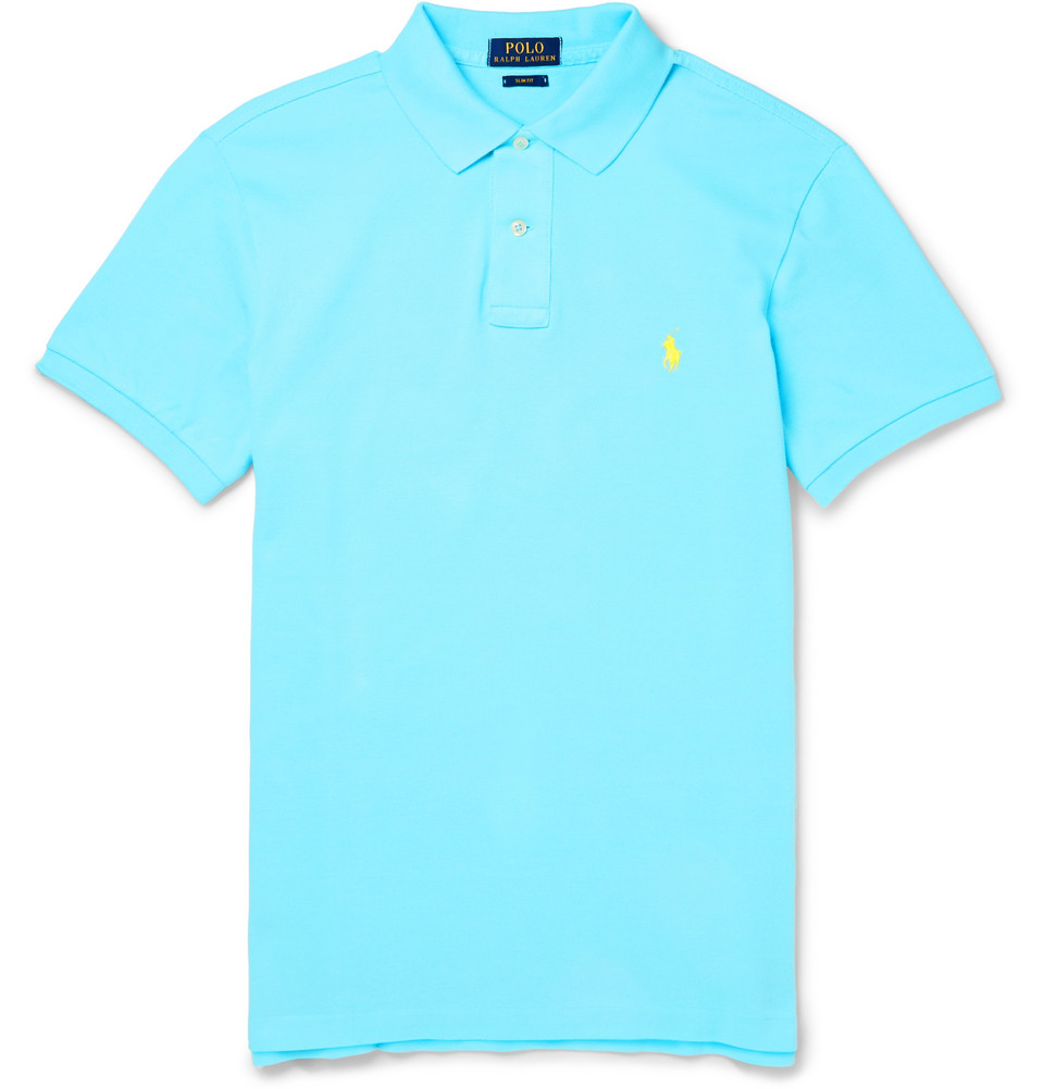 Lyst Polo Ralph Lauren Slim Fit Cotton Piqu Polo Shirt