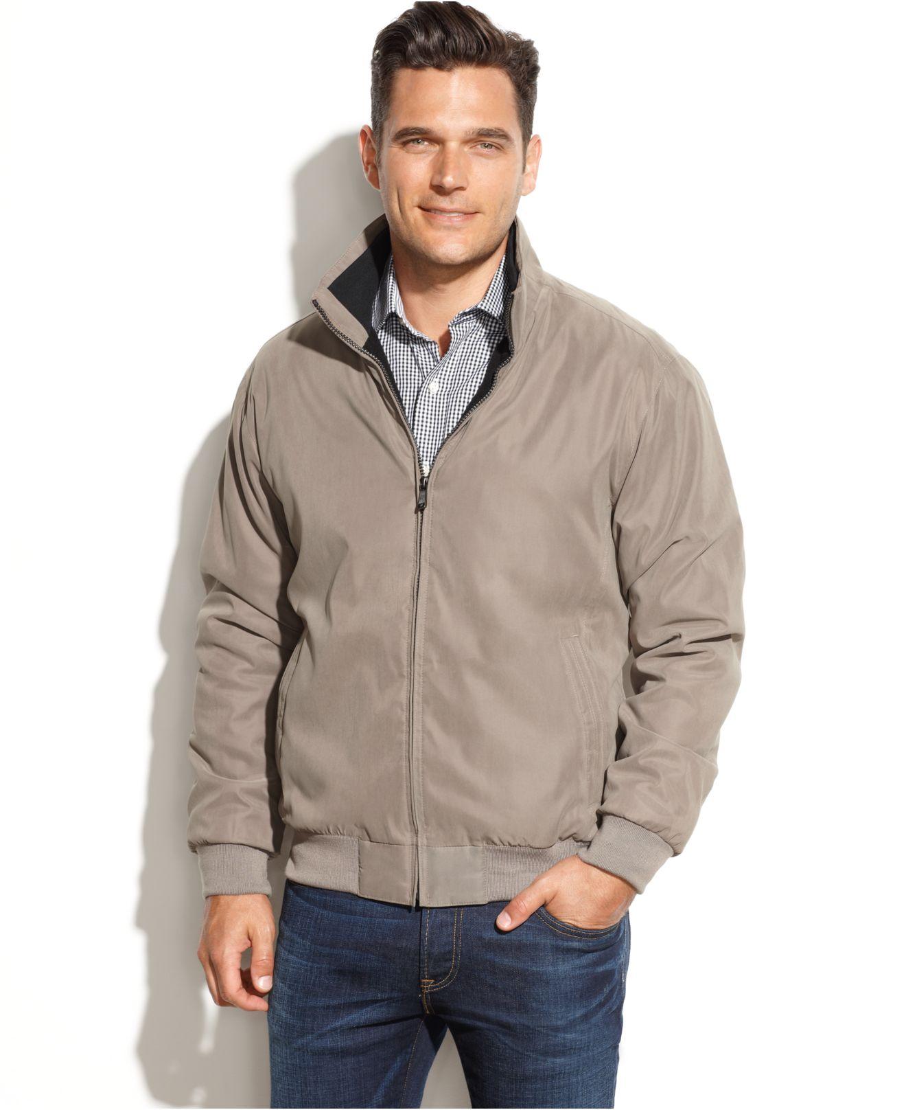 Lyst Weatherproof Fleece Lined Microfiber Jacket In Gray