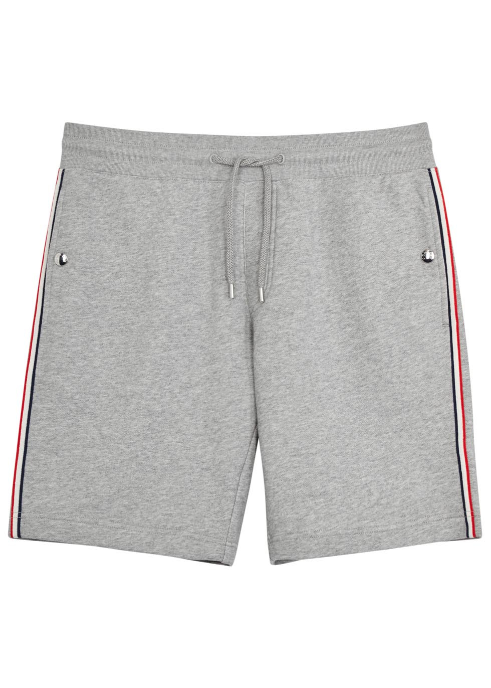 7a02389a940d Moncler Grey Cotton Jersey Shorts in Gray for Men - Lyst