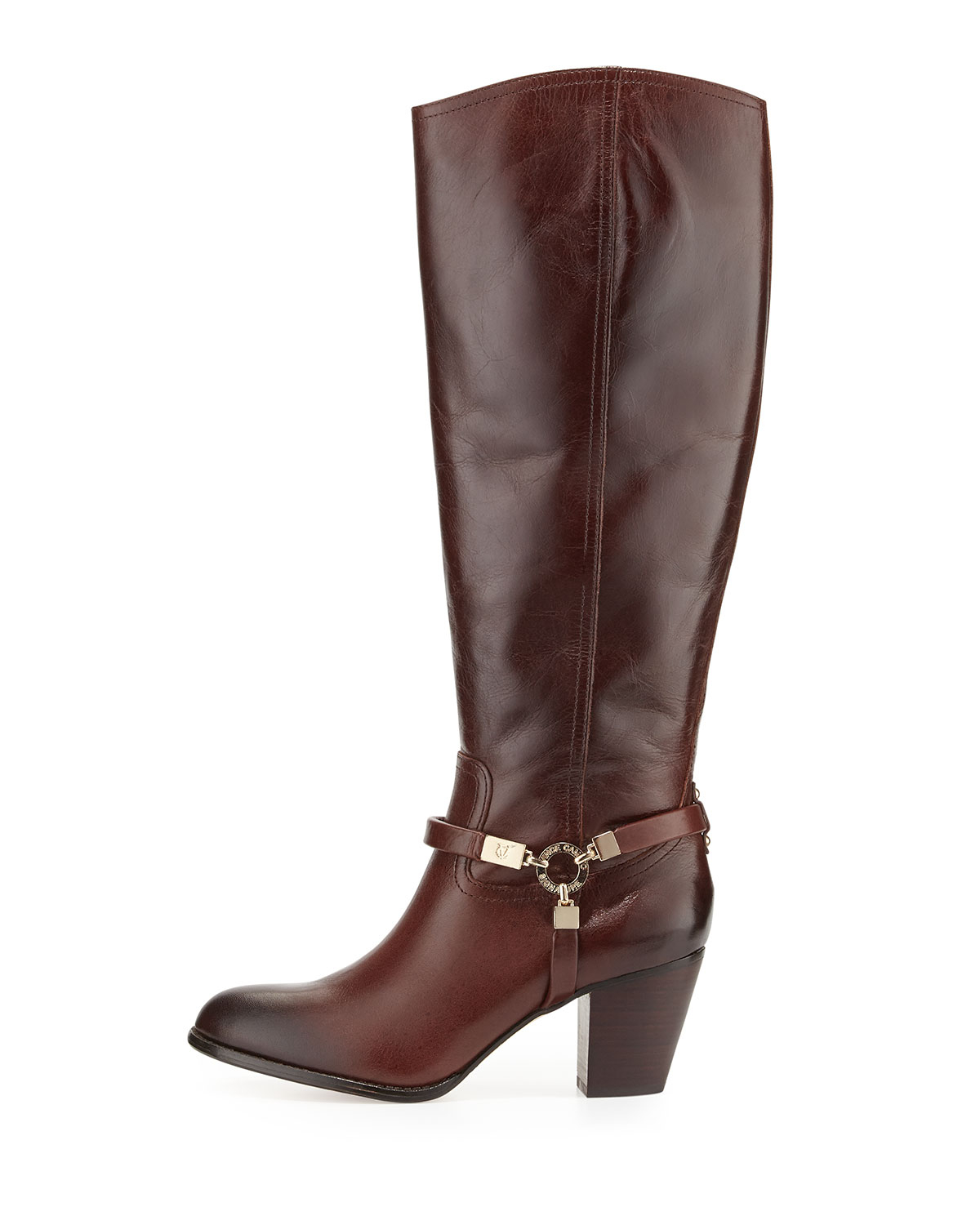lyst vince camuto signature dalina dyed leather riding
