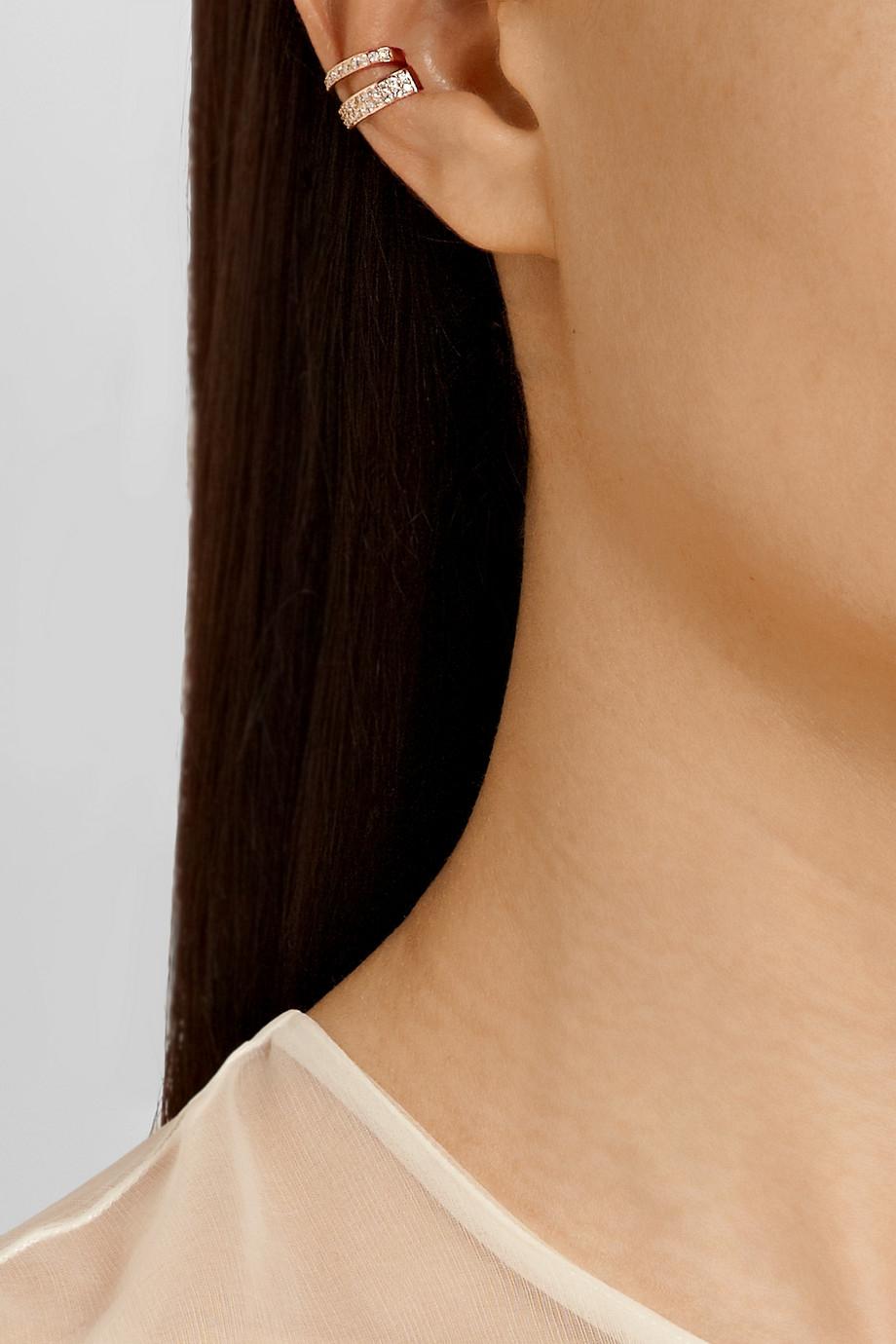 8e616934f Anita Ko 18-Karat Rose Gold Diamond Ear Cuff in Metallic - Lyst
