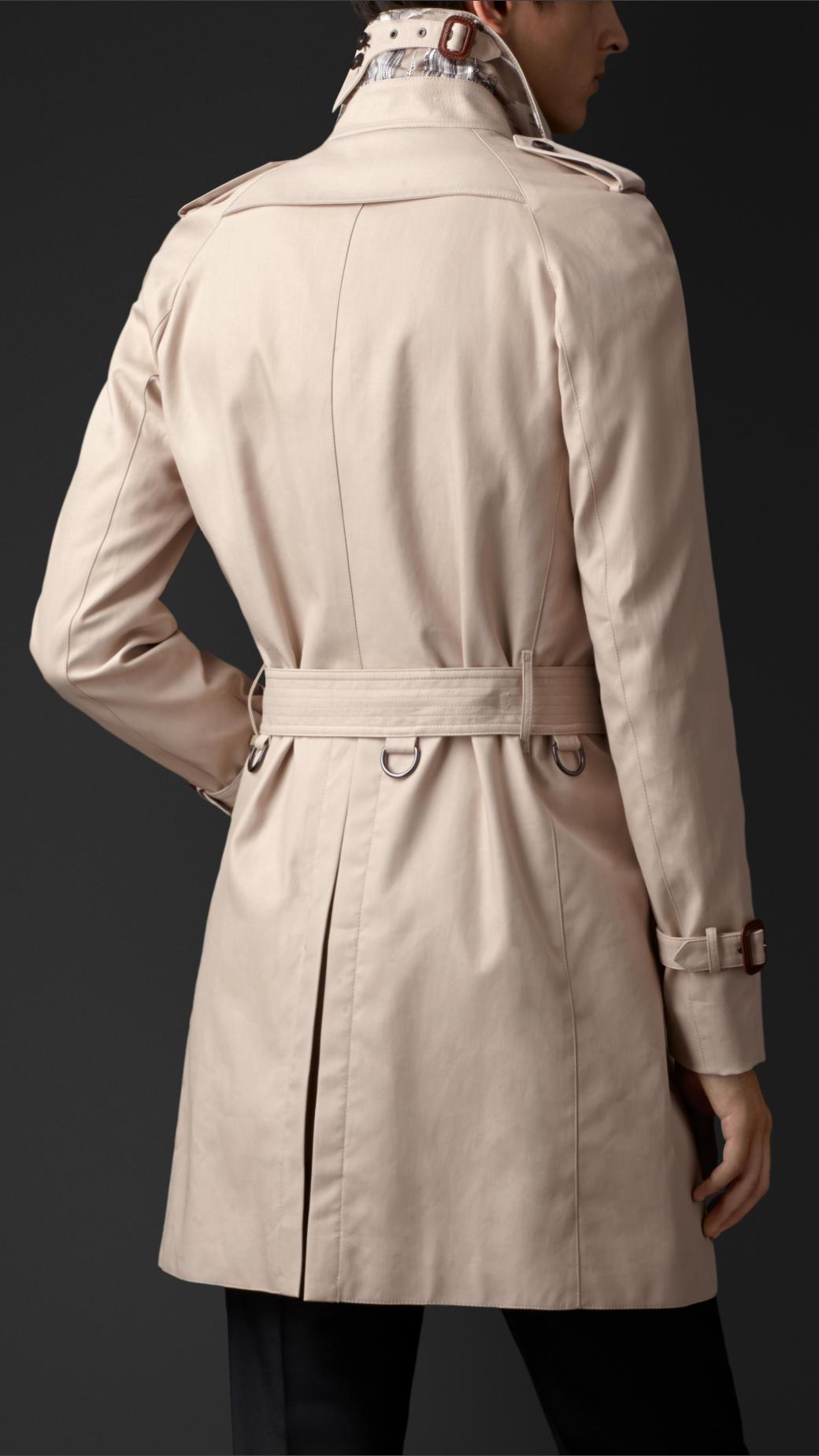 Burberry Cotton Gabardine Trench Coat in Natural for Men ...