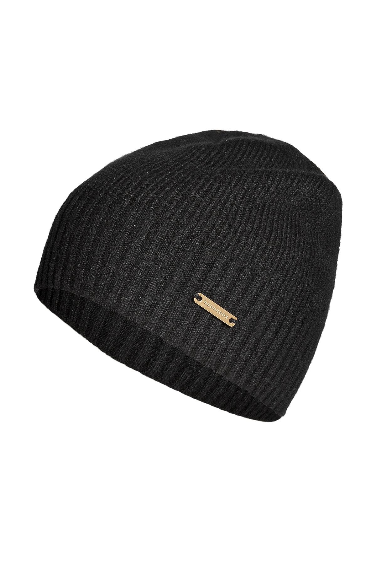 bb3bdfe26b5 Lyst - Burberry Cashmere Fisherman Rib Hat in Black in Black