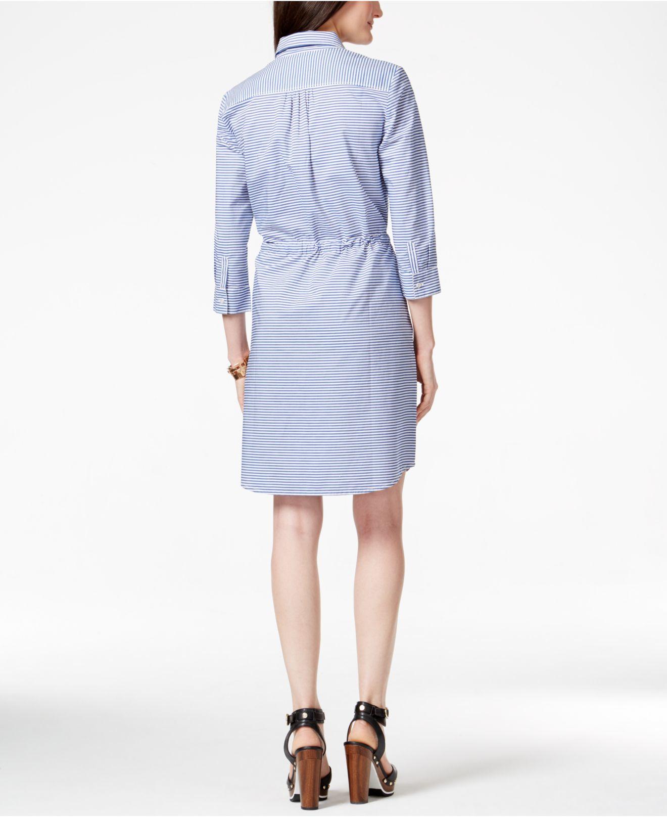 striped shirt dress - Blue Tommy Hilfiger 1mUhSCsJ