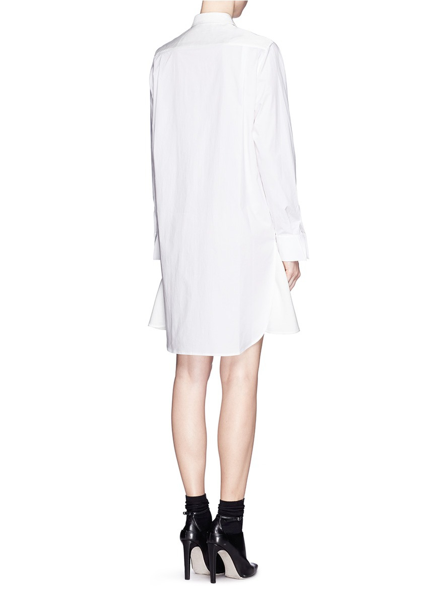 3.1 phillip lim Basket Weave Panel Poplin Shirt Dress in ...