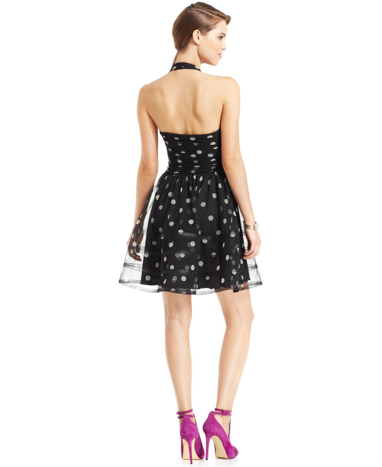 Betsey johnson dress sleeveless ombre lace halter