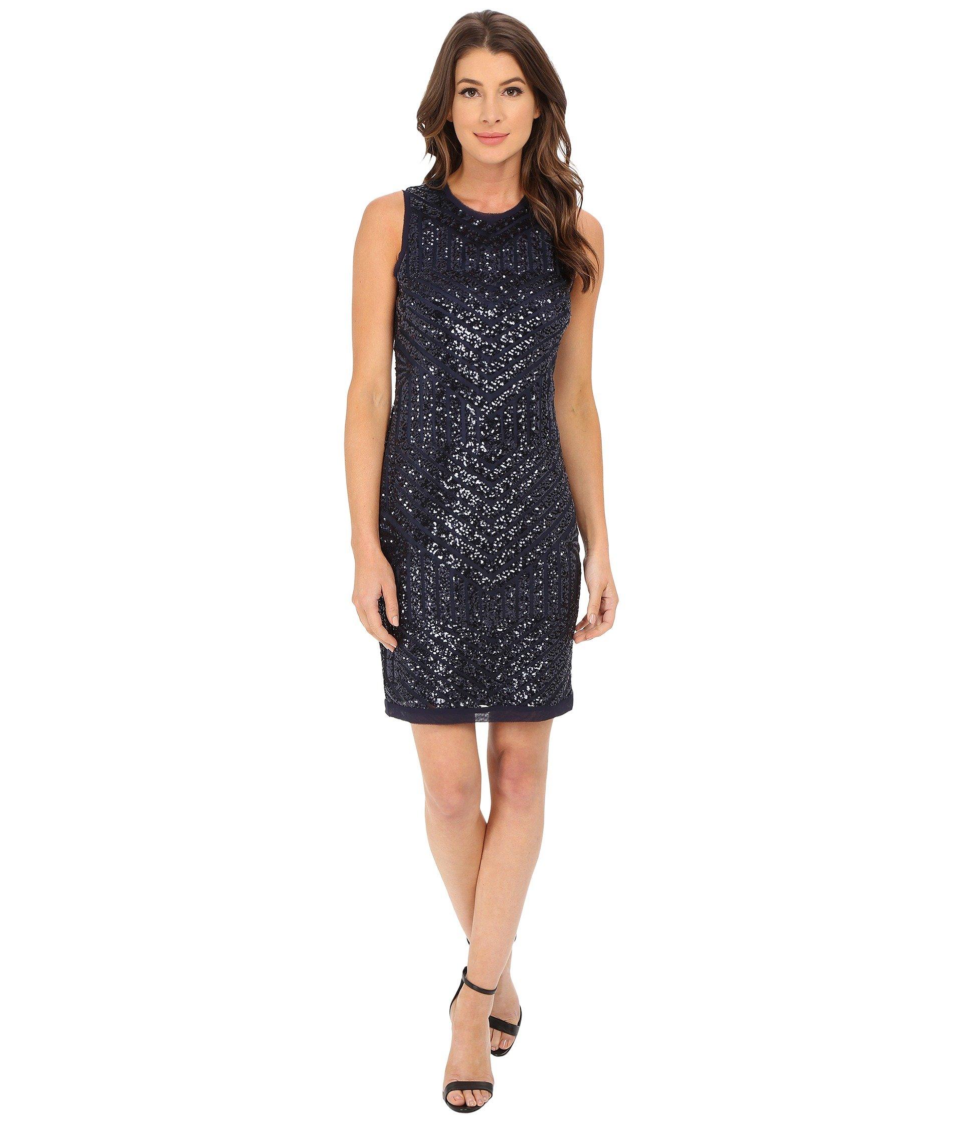 fca0b9448057 Vince Camuto Geo Sequin Sheath Dress in Blue - Lyst