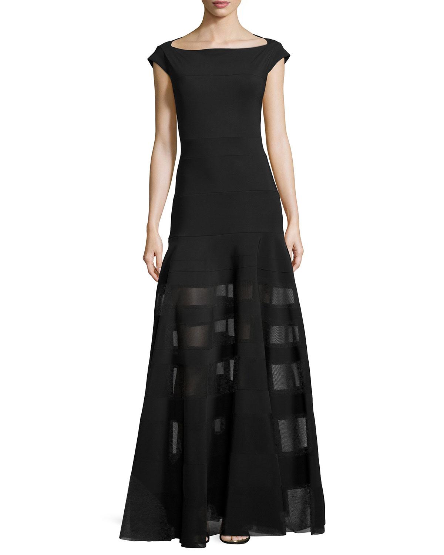 lyst la petite robe di chiara boni orlanda long cap sleeve illusion dress in black. Black Bedroom Furniture Sets. Home Design Ideas