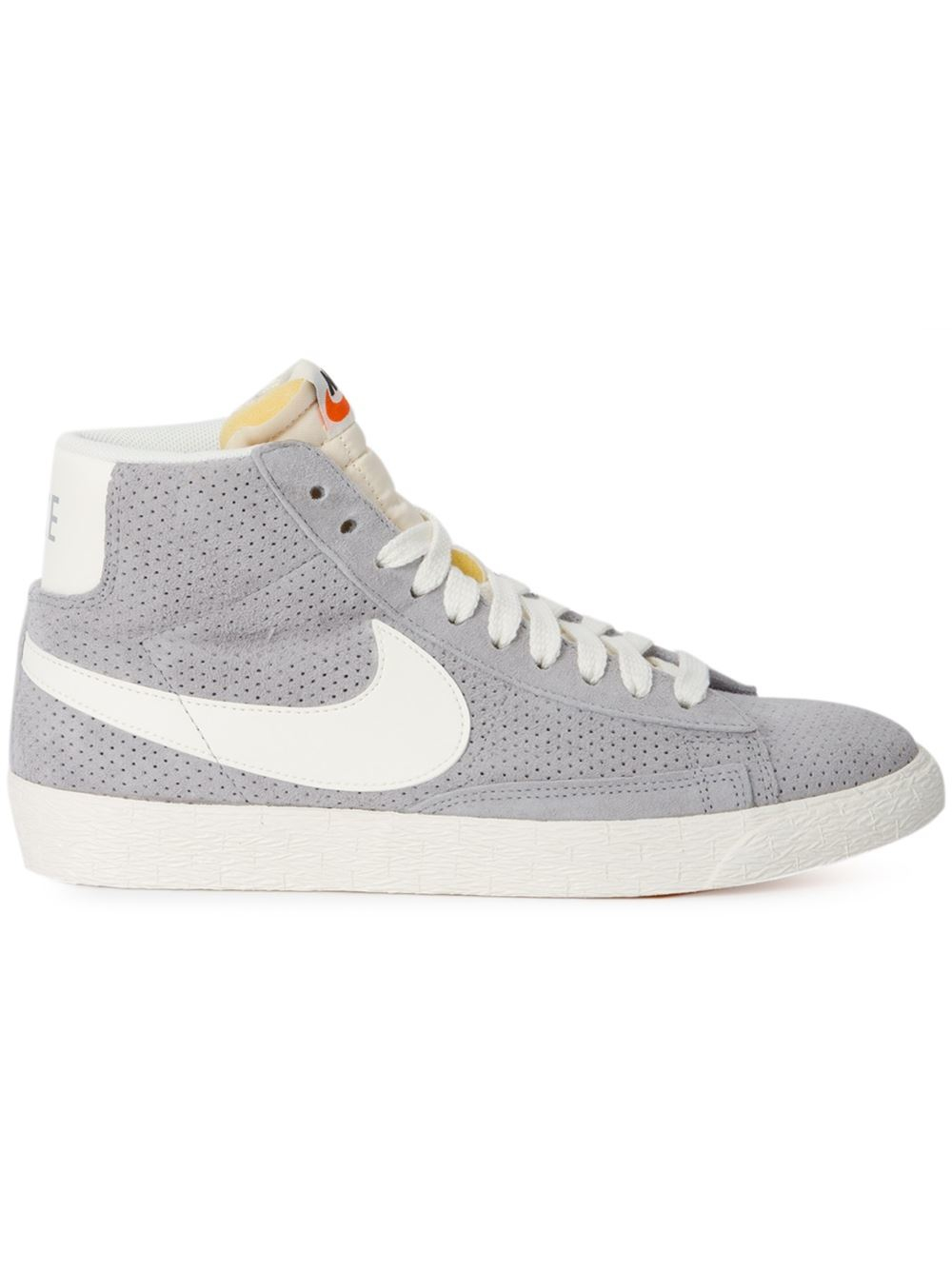 nike gray 39 blazer 39 mid top sneakers lyst. Black Bedroom Furniture Sets. Home Design Ideas