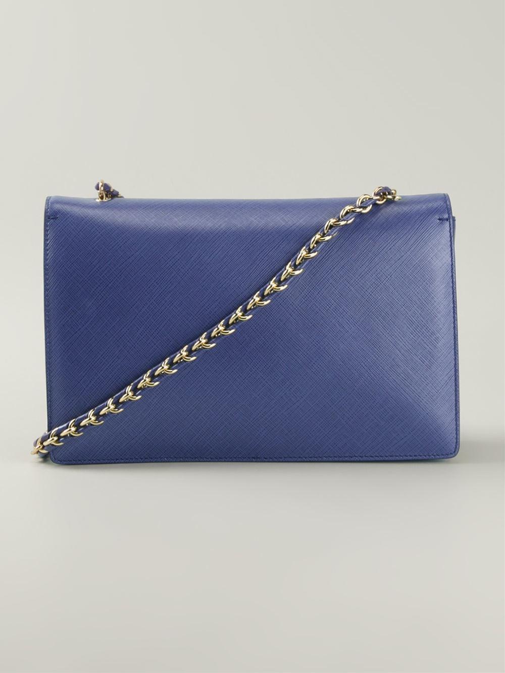 Lyst - Ferragamo  Ginny  Crossbody Bag in Blue 6ca2df3afce67