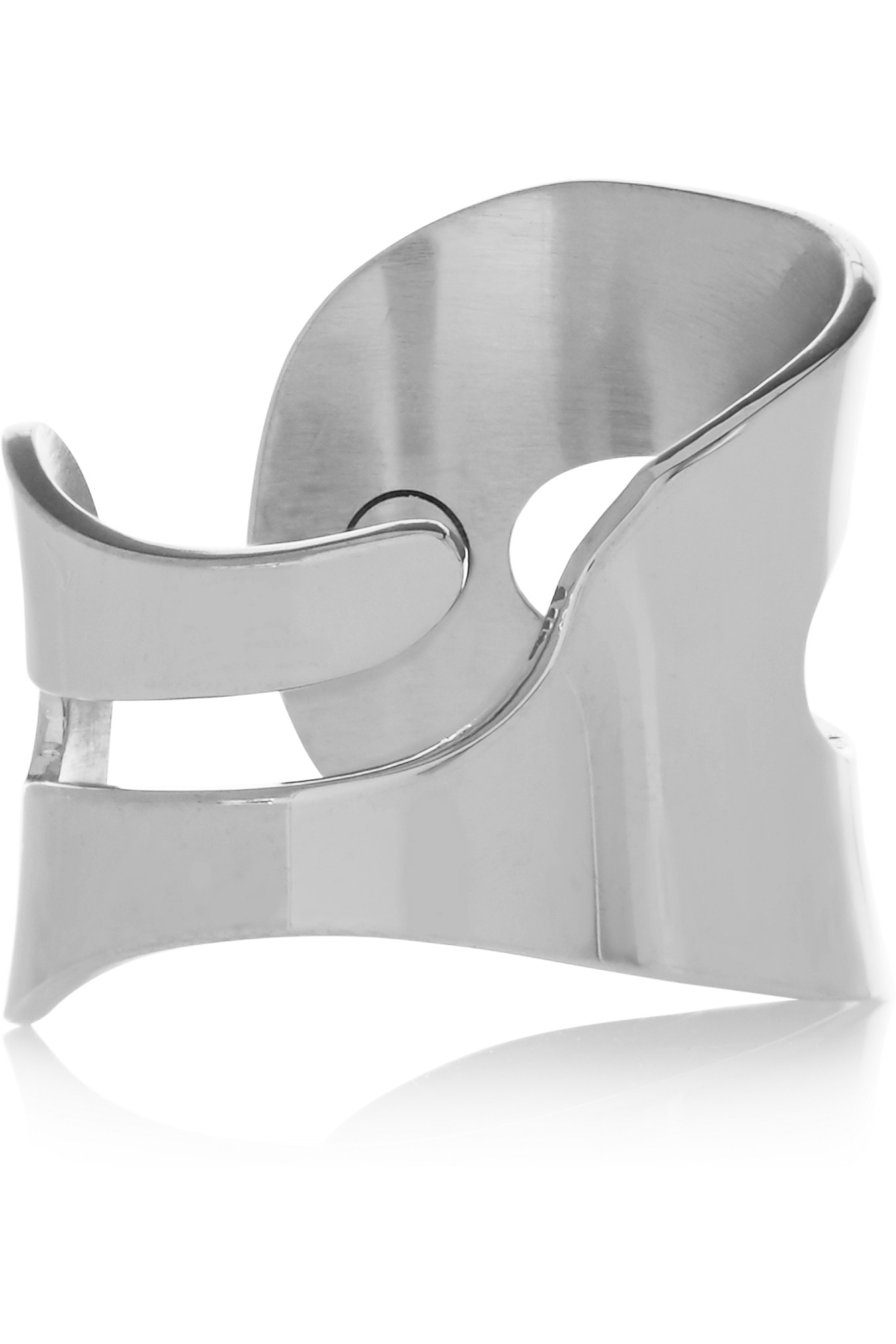lyst mm6 by maison martin margiela cutout silver tone ring in metallic. Black Bedroom Furniture Sets. Home Design Ideas