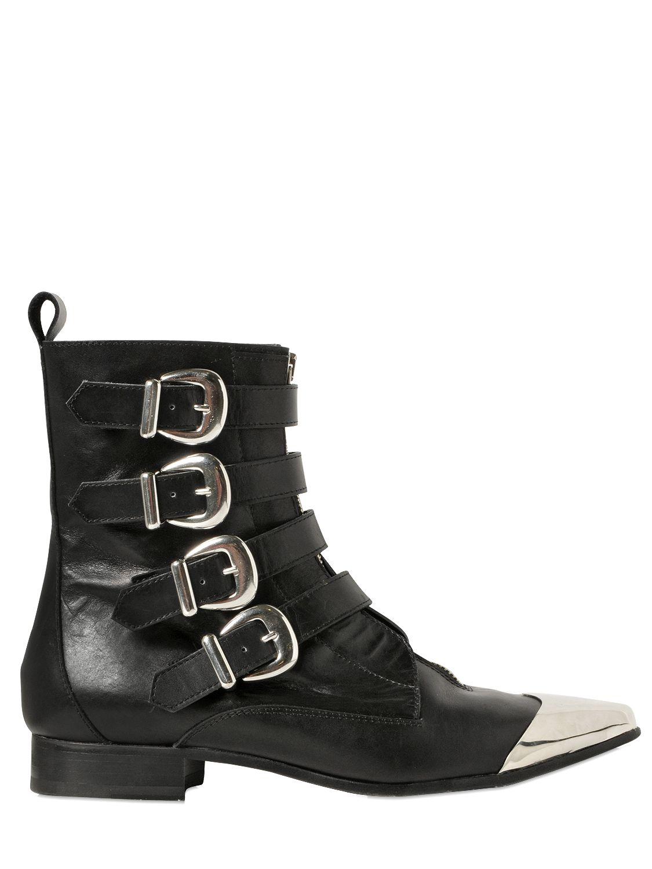 52b5c6154 Diesel Black Gold 25mm Metal Toe Leather Boots in Black - Lyst