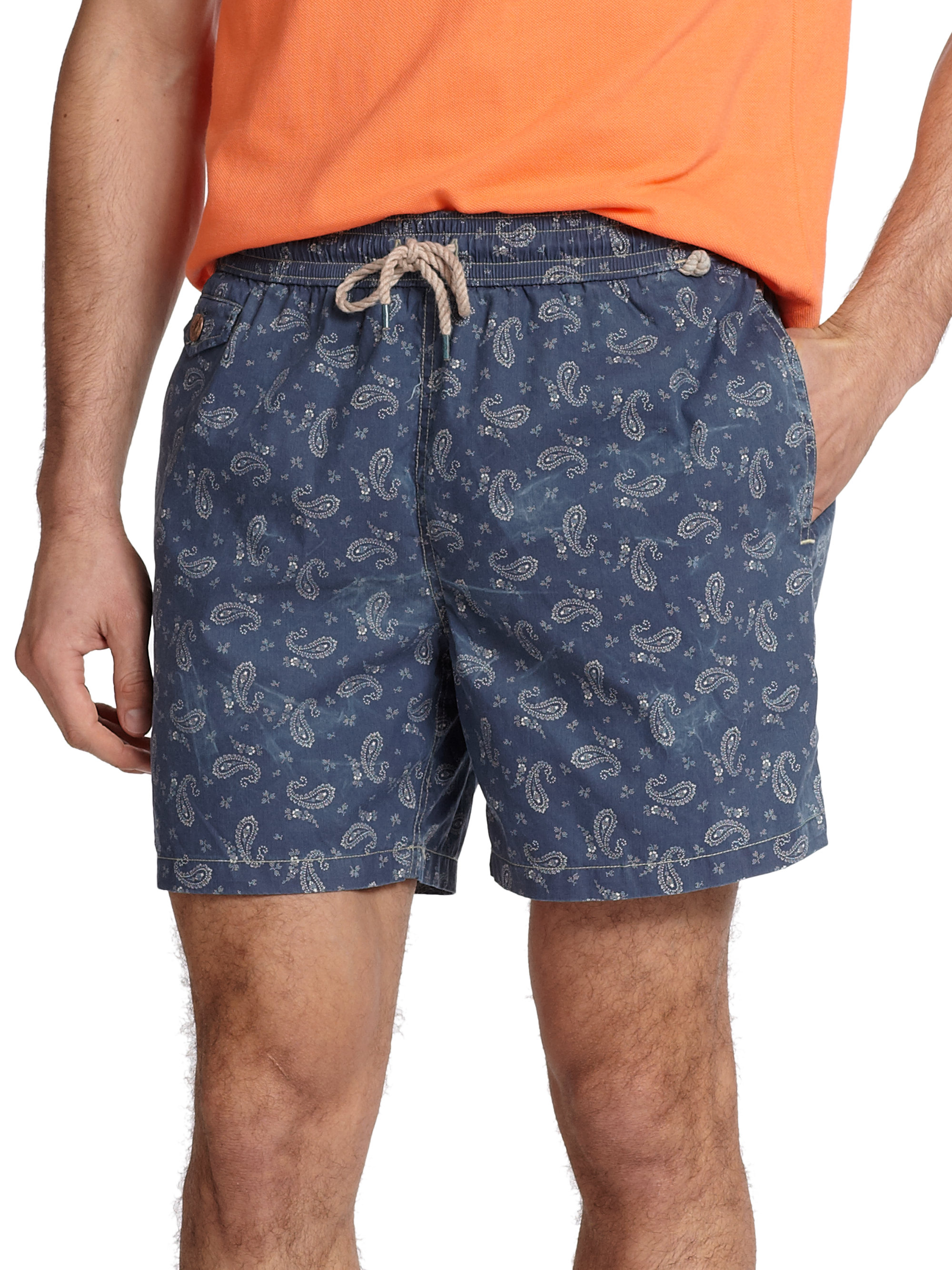 222fdfa39f Polo Ralph Lauren Traveler Bandana Print Swim Shorts in Blue for Men ...
